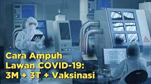 Cara Ampuh Lawan COVID-19: 3M, 3T, Vaksin